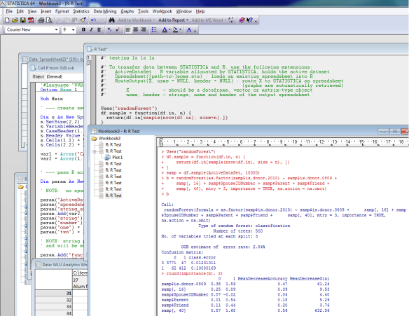 Using R from Inside Statistica